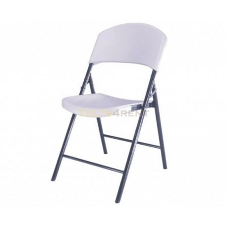 Saliekams plastmasas krēsls baltā krāsā