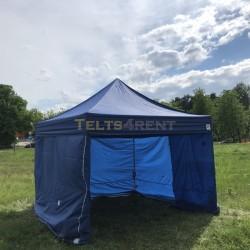 Telts 3x3m Zila ar sienām