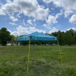 Telts elektro zila
